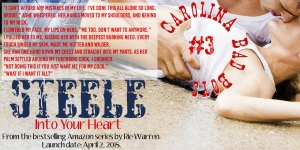Teaser 2  Steele Into Your Heart by Rie Warren April 10 Blog Post Promo